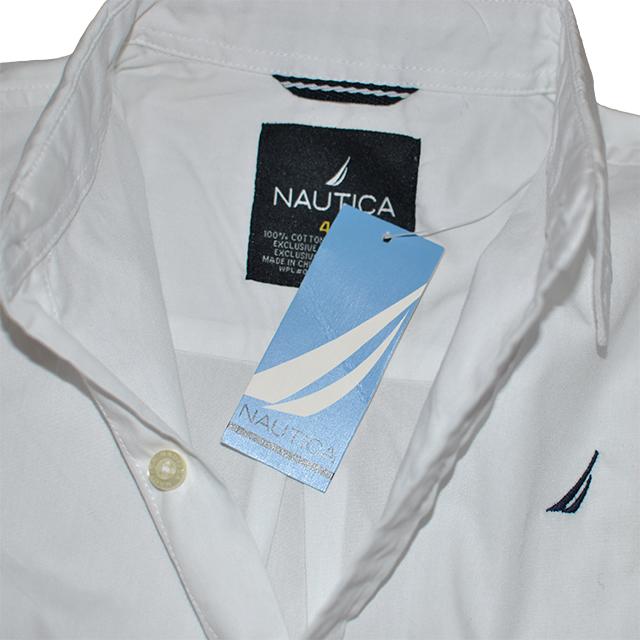 Фото 3: Классическая белая рубашка Nautica