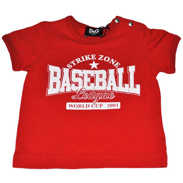 Фото 1: Красная футболка Dolce Gabanna для детей