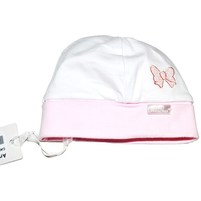 Фото 1: Бело-розовая шапка Carlo Pignatelli для маленьких детей