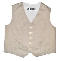 Фото 1: Светлая жилетка Bikkemberg для маленких модниц