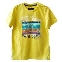 Фото 1: Желтая футболка с рисунком