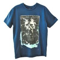 Фото 1: Синяя футболка с рисунком