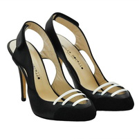 Кожа босоножки - закрытый носок, застежка липучка. Высота каблука 8см. Картинка: 1