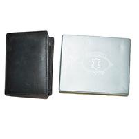 Мужской кожаный кошелек черного цвета. Фото: 1