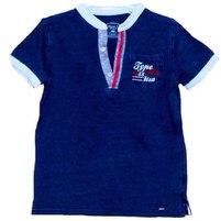 Фото 1: Темно - синяя футболка для мальчиков Type A-1