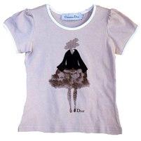 Фото 1: Футболка Dior для девочек с рисунком