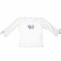 Фото 1: Белая блуза Trussardi для малышей украшена кристаллами