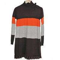 Фото 1: Платье TO BE TOO свободного кроя, с кружевной оборкой