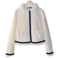 Фото 1: Белоснежная куртка Miss Blumarine для маленьких модниц