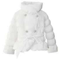 Фото 1: Белоснежная куртка-пуховик Blumarine Baby для девочек