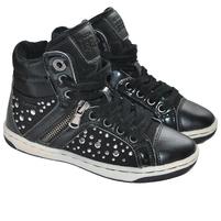 Детские черные кроссовки Geox. Фото: 2