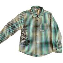 Фото 1: Рубашка в полоску зеленую Geox
