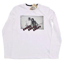 Фото 1: Белая футболка с длинным рукавом Street Gang