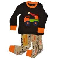Фото 1: Коричневая пижама с рисунком Gap baby
