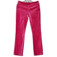 Вельветовые брюки красный фиолетового цвета, отлично сидят по фигуре. Украшены стразами. Фото: 1