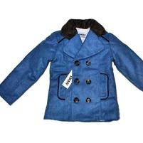 Фото 1: Синие утепленное пальто для мальчиков