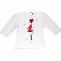 Фото 1: Белая футболка с длинным рукавом GF Ferre 0-3 мес