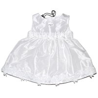 Белоснежное платье для маленьких модниц. Фото: 1