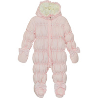 Фото 1: Розовый комбинезон пуховой Blumarine Baby для малышей